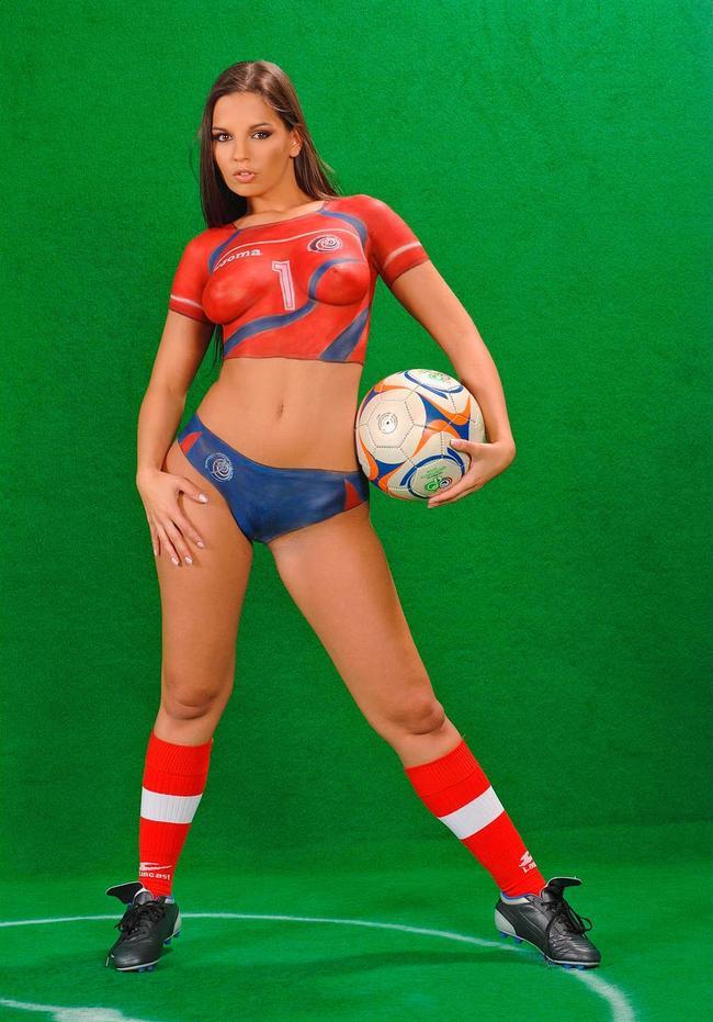 Футбольная фанатка