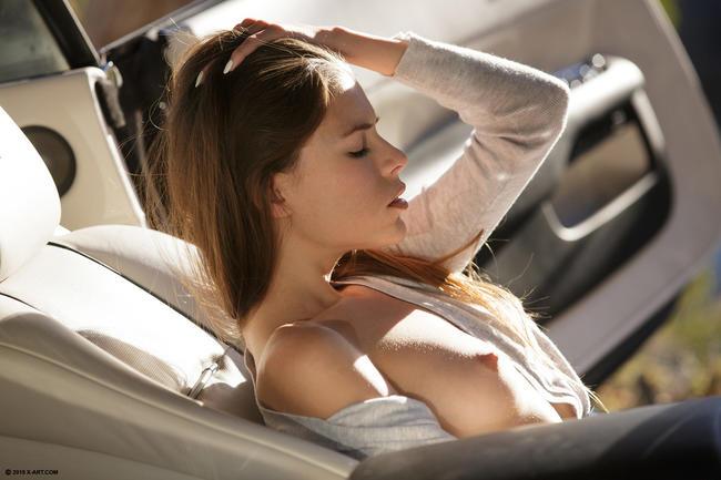 Автомобилистка отдыхает