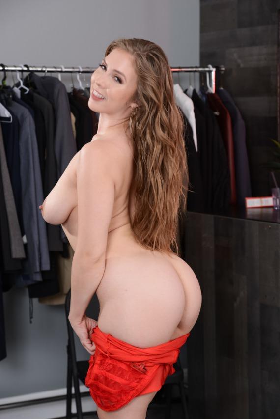 Порно актриса Лена Паул и ее красное платье