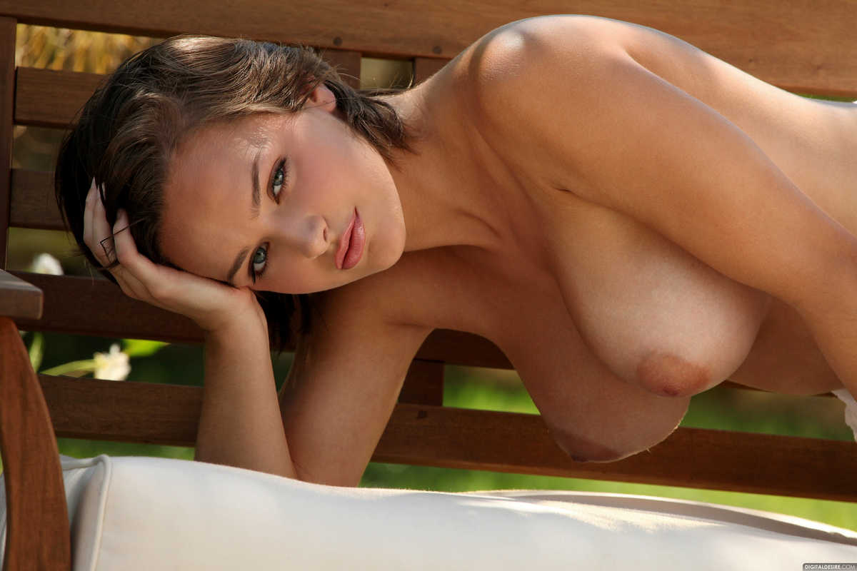 Full natural nude breasts