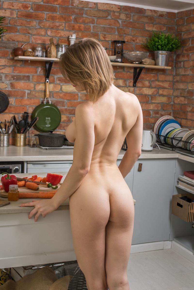 Alli hot naked kitchen 5