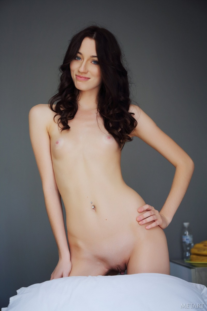 Dark Hair Blue Eyes Nude
