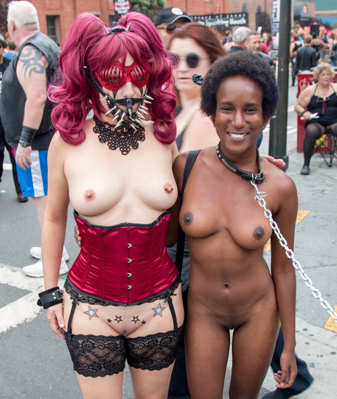 Halloween time for the sluts to be naked, swinger sex nudity