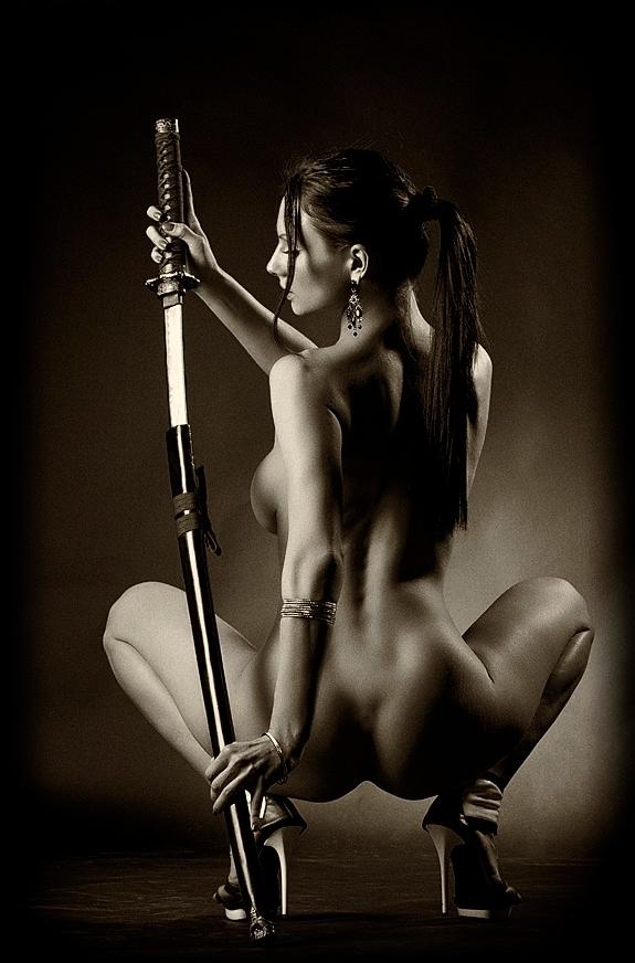 Naked women in swordfish #4