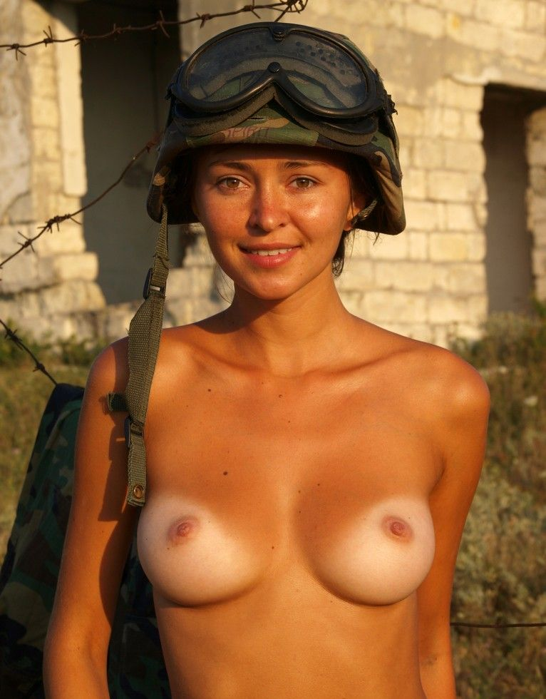 Naked army woman