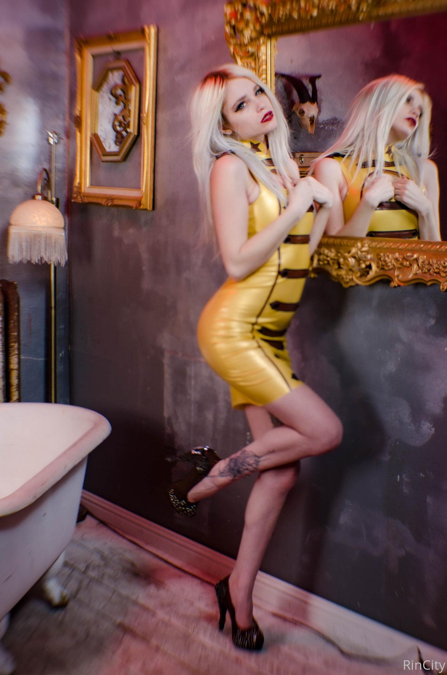 Rin City) - Latex Dress