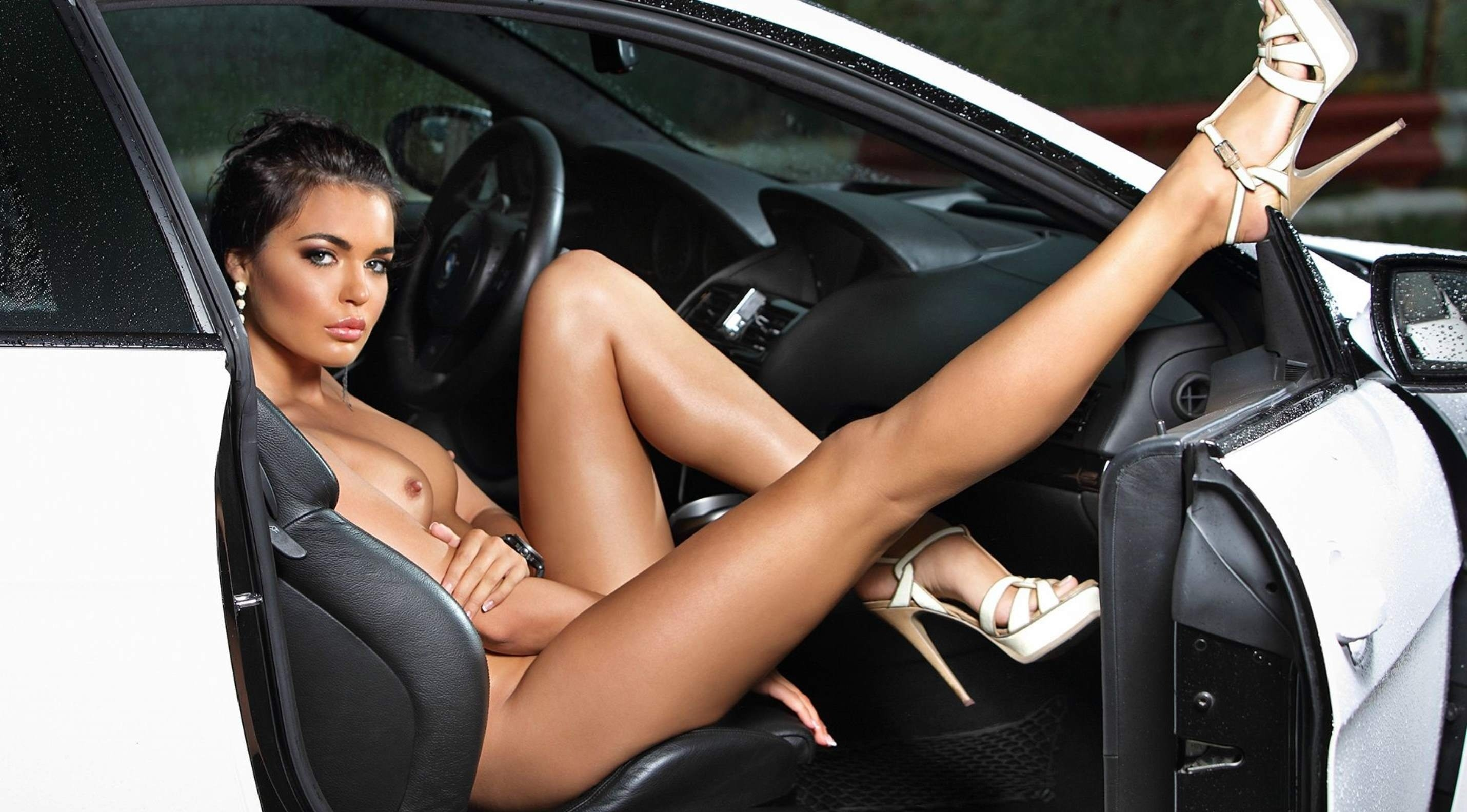 Women petite body car naked butt