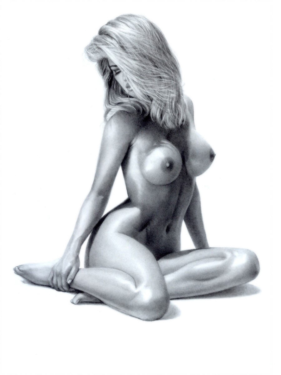 Fantasy drawn nude girls 15