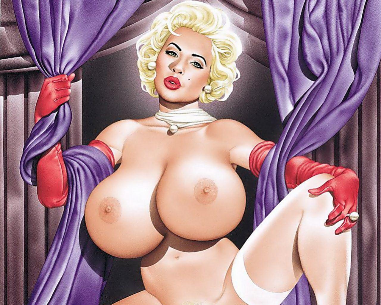 рисунки голые девушки с большими сиськами просто собираемся