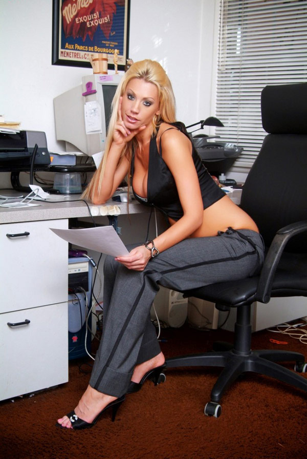 Apparel from sexy erotic secretary office boss lesbian forniing herself