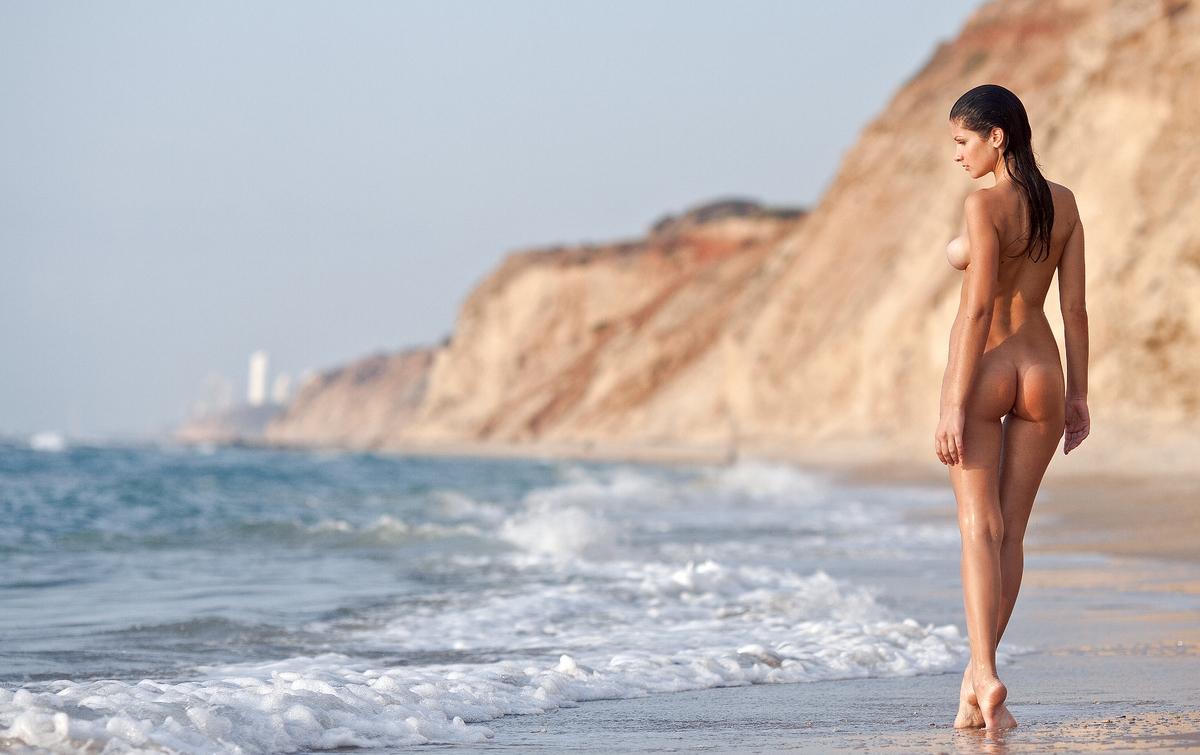 Море Пляж Голые Девушки