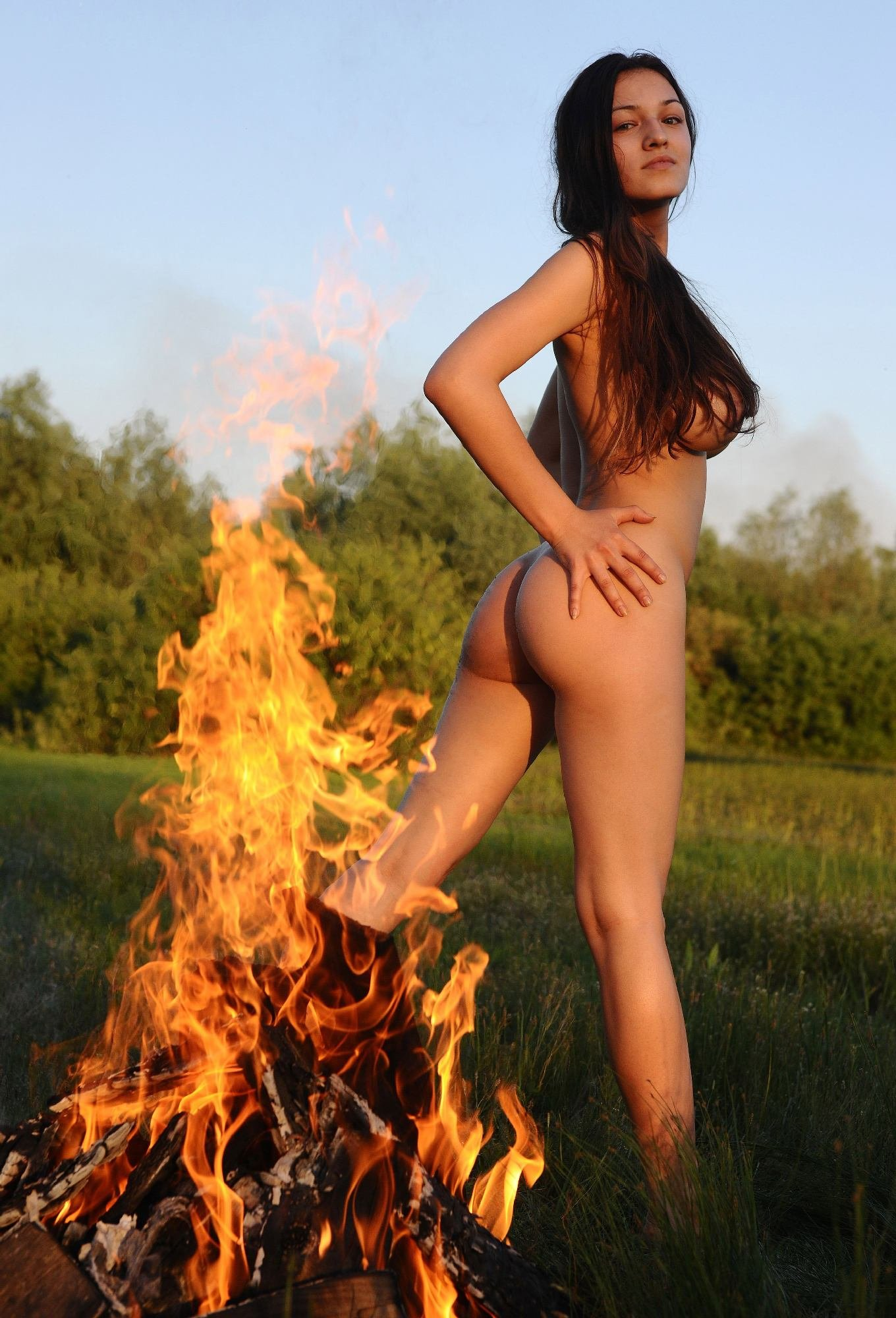 girl-on-fire-naked