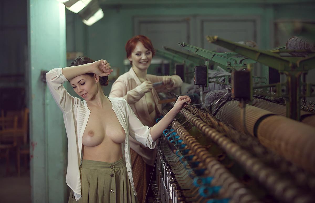 голые девушки фабрики малки