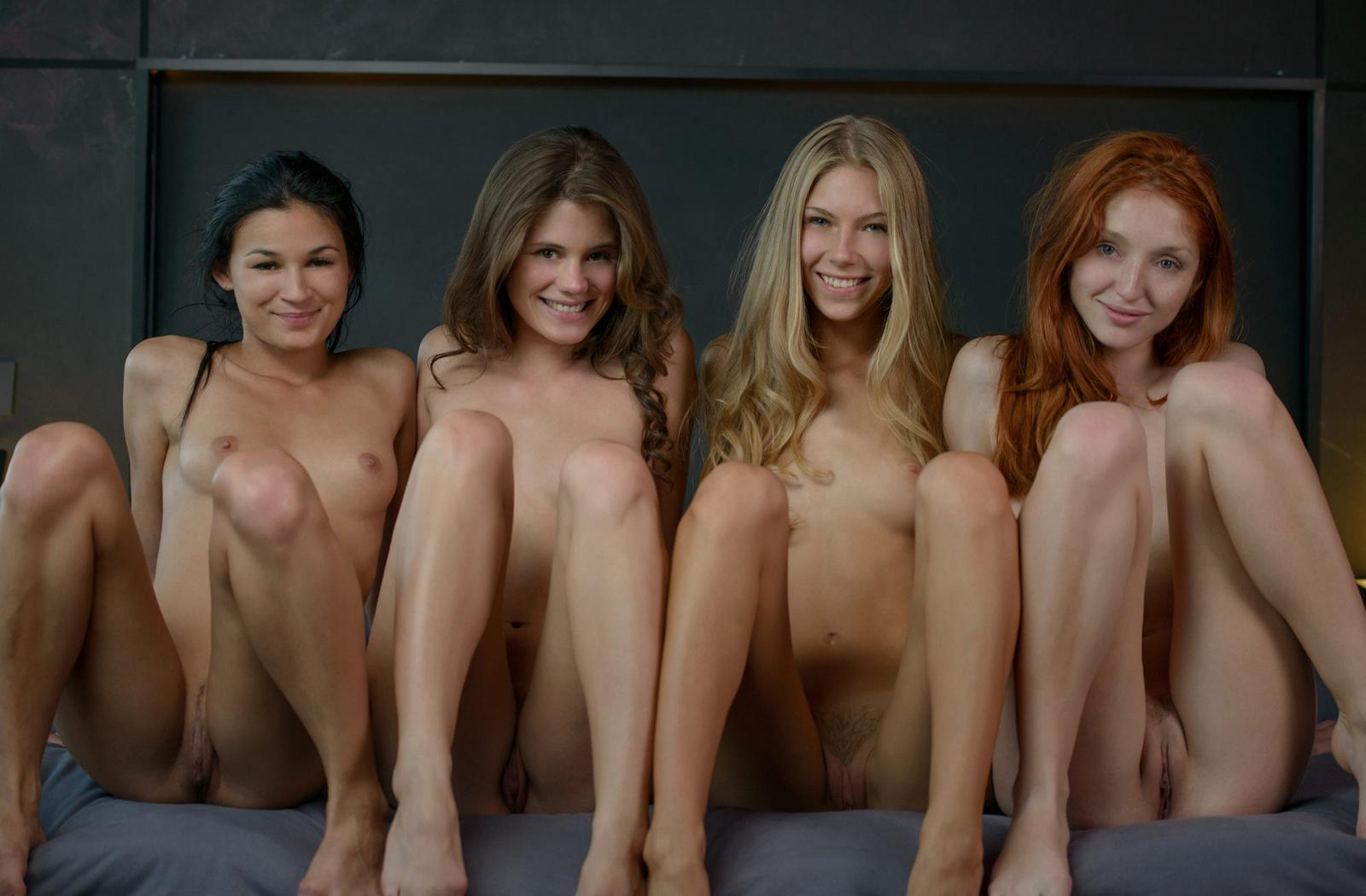 Nude cute group girls — 14