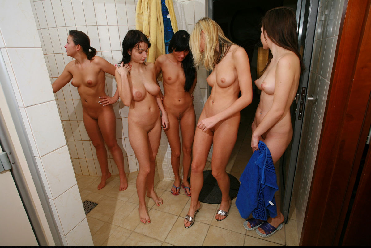 Teens naked in shower high def