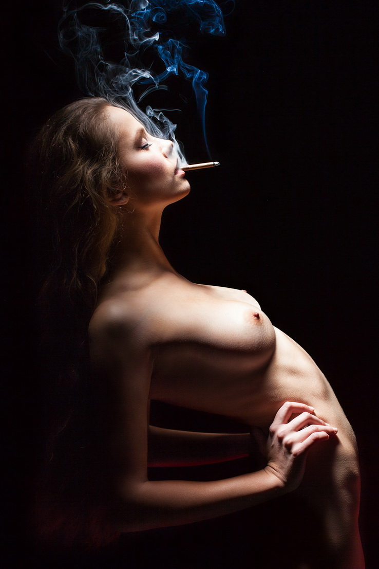 Nude black girls smoking weed, collars and cuff femdom
