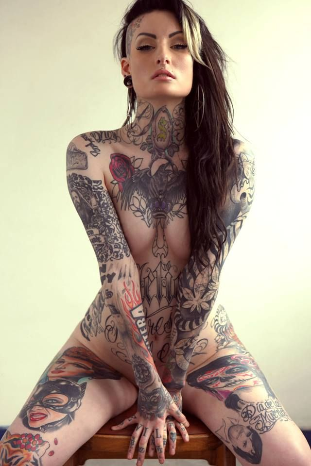 Naked tattooed sexy girls #11