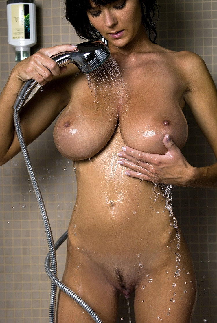 Nude girls boobs in the shower